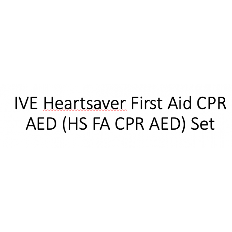 IVE Heartsaver First Aid CPR AED (HS FA CPR AED) Provider eManual and eCard